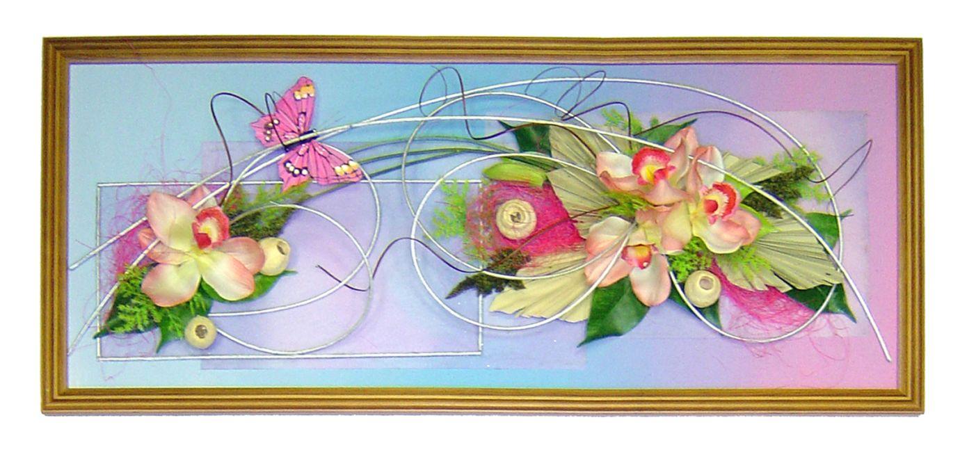 Картины с искусственными цветами
