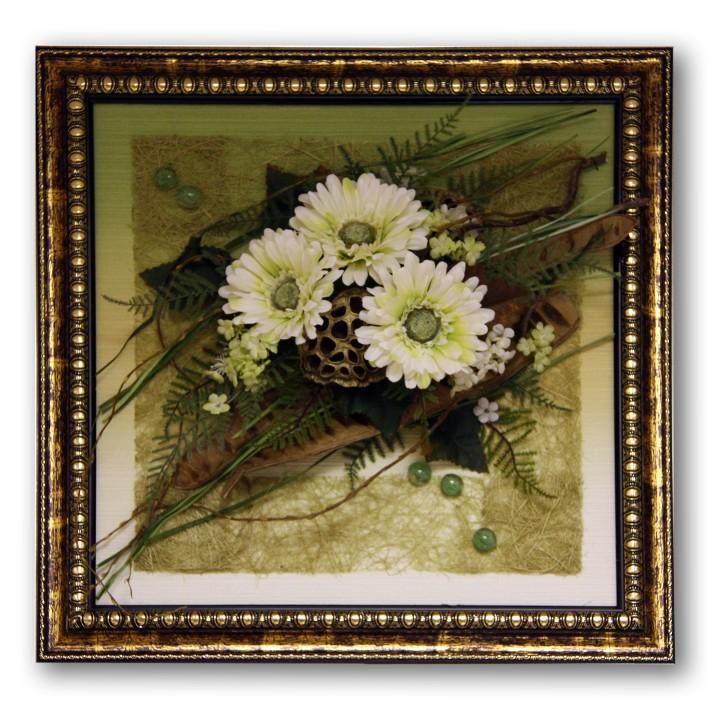 Картины сделанные из цветов своими руками 527